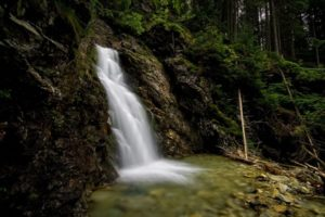 Vodopád Skok, Kmeťov vodopád, vodopád, Mlynická dolina, Vysoké Tatry