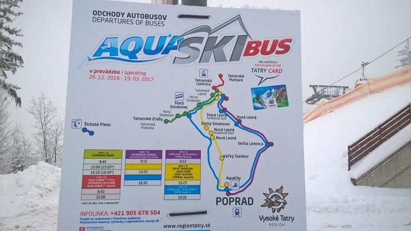 Skibus, Ski bus, Vysoké Tatry, Tatranská Lomnica, Nový Smokovec