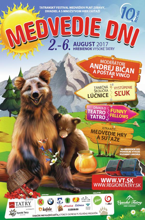 Medvedie dni, festival, Starý Smokovec, Hrebienok, Vysoké Tatry