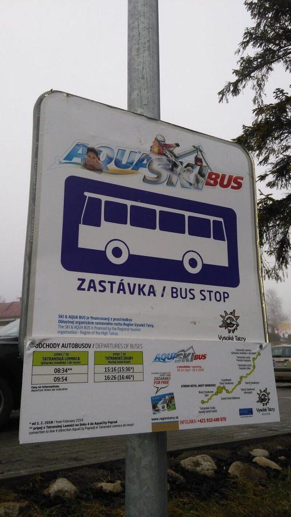 SKIBUS, Vysoke Tatry, SKI & AQUA BUS